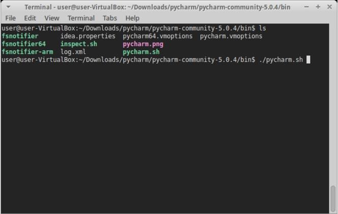 Запуск PyCharm в Linux