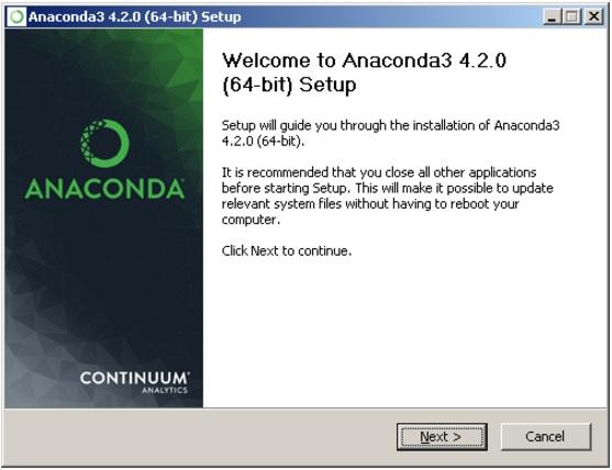 Установка Anaconda