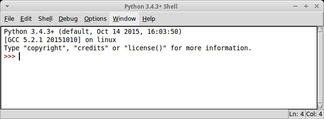 Python IDLE в Linux