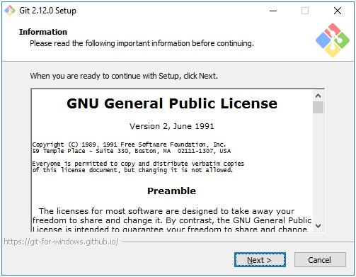 Лицензионное соглашение Git