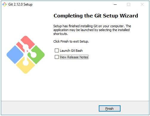 Завершение установки Git