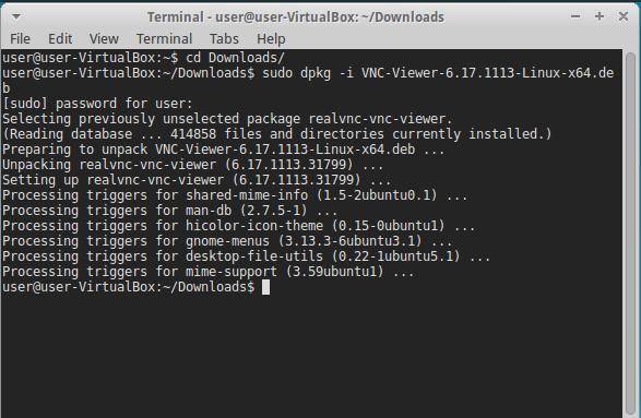 Установка VNC клиента в Linux