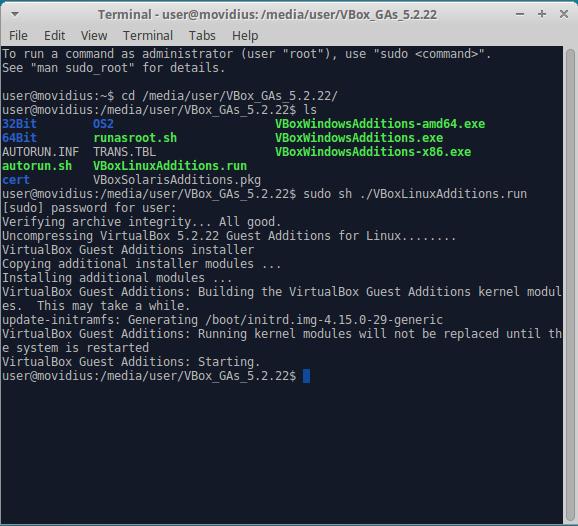 Xubuntu install guest addons